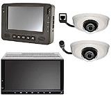 IP-Kameras + Automotive Panel-PC + Doppel DIN-Schacht PC