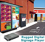 Rugged Fanless Box-PC B325 Digital Signage Player gears up for Semi-Outdoor Kiosks / Signages